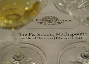 Value in seminars: tasting with M Chapoutier
