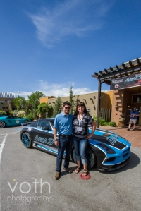 fangirl time with pro driver Patrick Carpentier