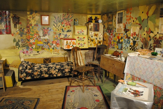 in awe of art and the artist who lived this life: the reconstructed home of Maud Lewis, celebrated folk artist who lived outside of Digby NS
